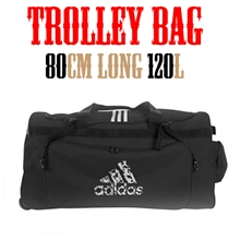 adidas Martial Arts [Trolley Bag] キャリーバッグ 黒 [ad-bg-trolleybag-082-bk]