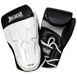JIN GEAR ボクシンググローブ White Horn Model 本革 黒白 [jg-gv-boxing-whitehorn-leather-bkwh]