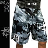 RATED-R ファイトショーツ Pearl R-Camo 黒グレー迷彩 [rr-fs-pearlrcamo-gy0013-bkgycamo]