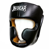 JIN GEAR HEAD GUARD 本革 黒 [jg-pt-headguard-cowhideleather-bk]