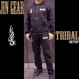 JIN GEAR Tribal Model パーカー セットアップ 黒 [jg-hd-setup-tribal-bk]