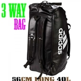 adidas スポーツバッグ Martial Arts [3way Bag] 40L 黒/白 [ad-bg-3waybag40l-cc051-bkwh]