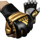 【NEW】adidas アディダス ニュ ースピード ファイト グローブ New Speed Fight Glove 黒ゴールド BlackGold [ad-gv-openfinger-newspeedfight-bkgd]